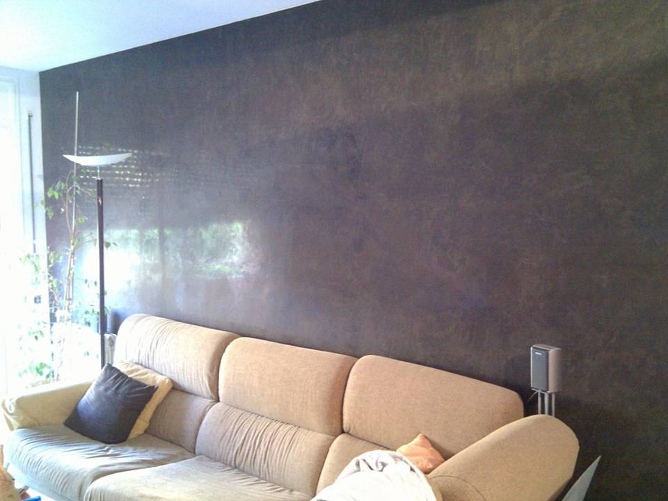 Estuco veneciano for Gris verdoso pared